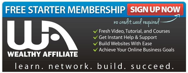 Sign up for Wealthy Affiliate Free Starter Membership Sign Up