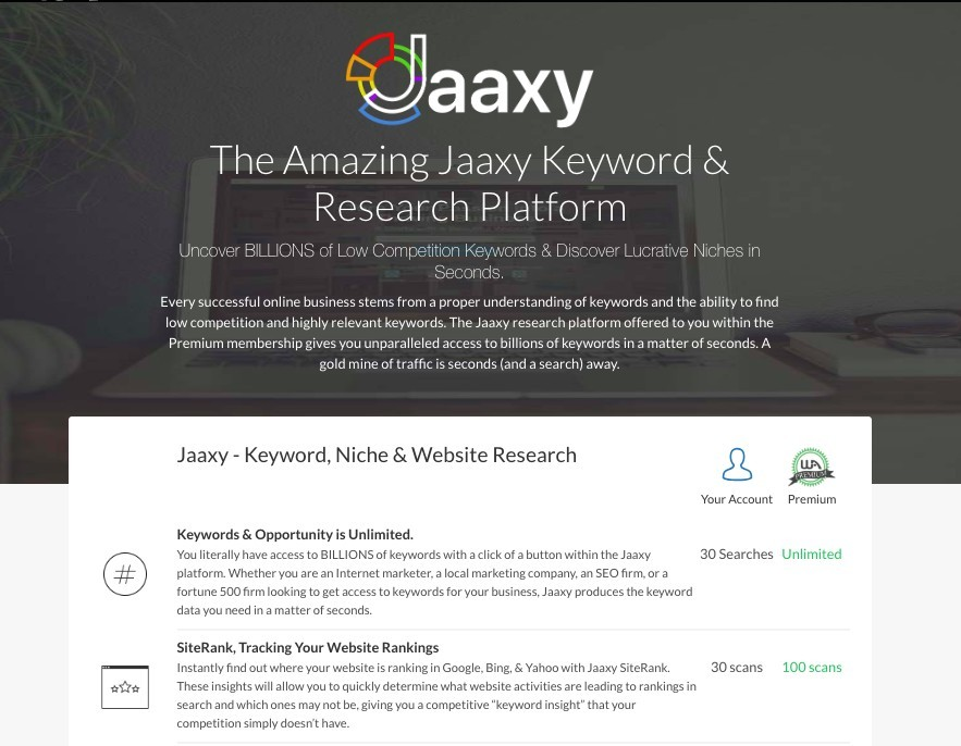 Powerful SEO Tools - Jaaxy