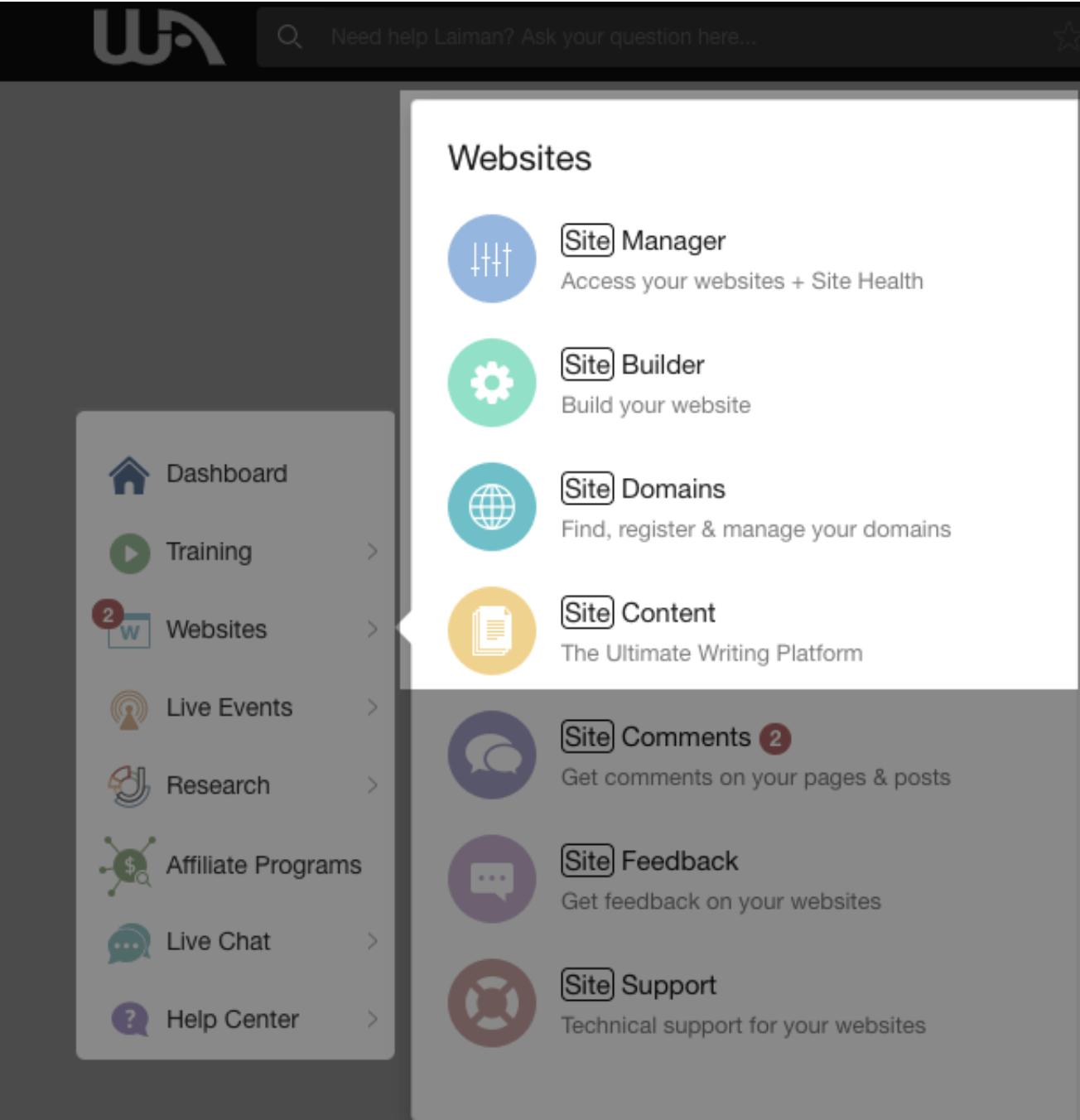 Wealthy Affiliate Website Development Tools