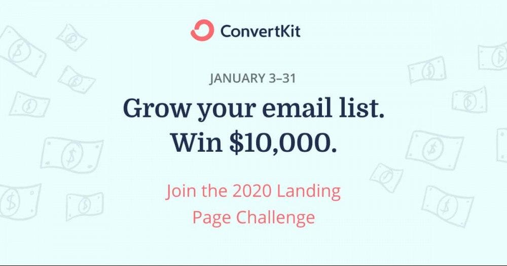 ConvertKit 2020 Landing Page Challenge