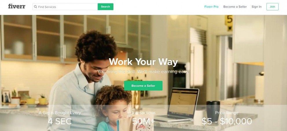 fiverr freelancer work your way