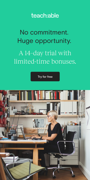 Teachable 14 Day Free Trial 300x600