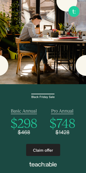 Teachable Black Friday 2020 Price-openup-opportunities.com 300x600