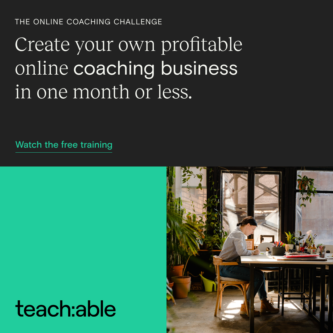 Teachable Webinar Online Coaching