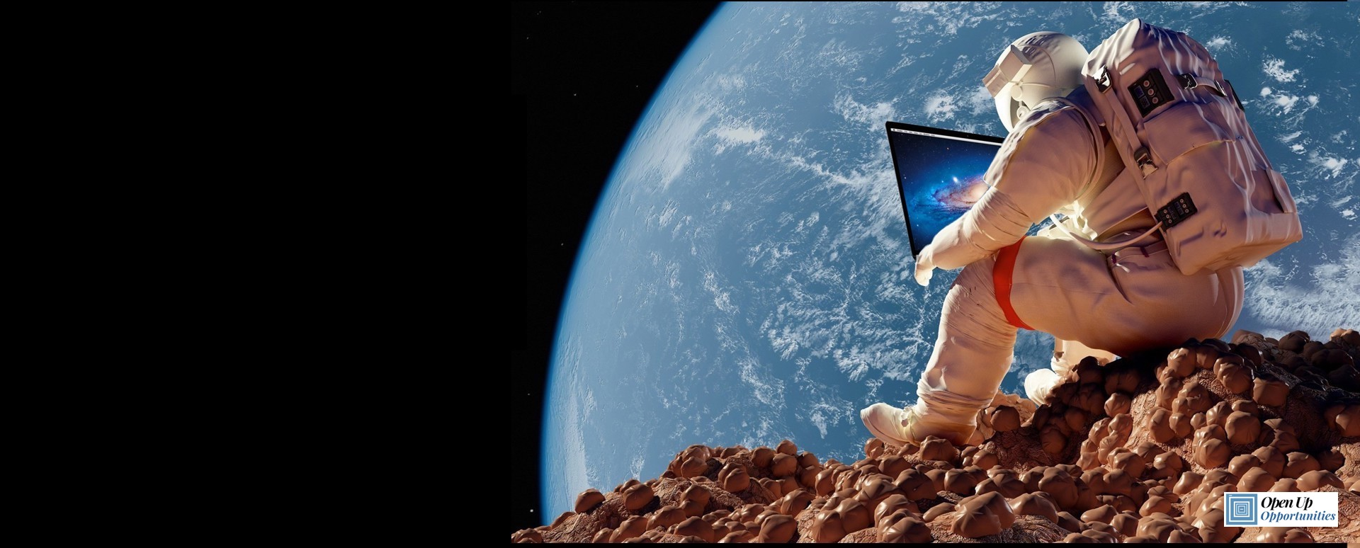 Open Up Opportunity_Working Remotely is Not Future Science Fiction With Logo