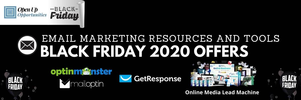 Black Friday 2020 Discount Email Marketing Tools