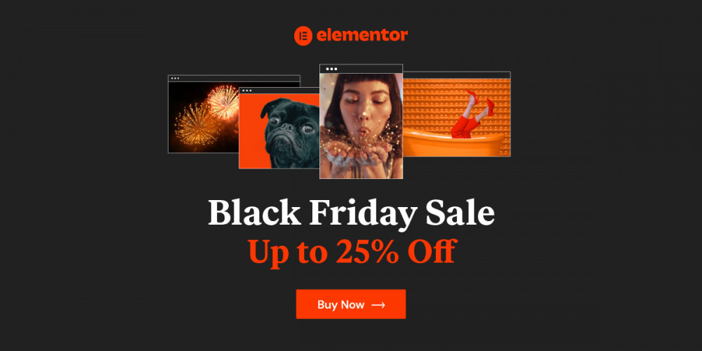 Elementor Black Friday 2020