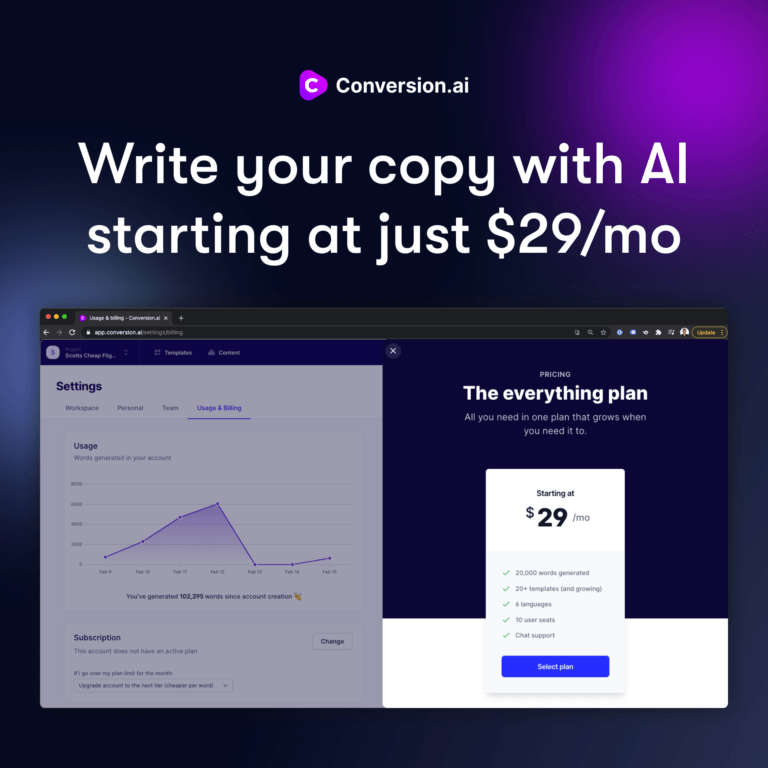 """Read more about the article Conversion.ai – A Latest AI Tool To """"Write"""" Powerful Marketing Copy and Content"""